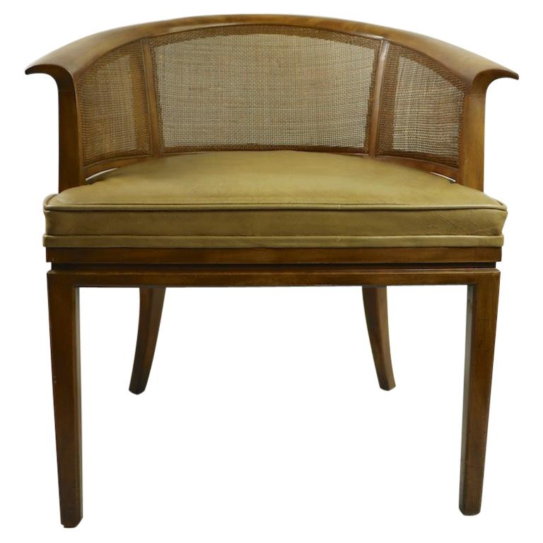 John Widdicomb Caned Back Lounge Chair For Sale