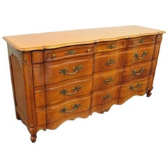 John Widdicomb Country French Provincial Dresser Cherry 12 Drawer Fruitwood