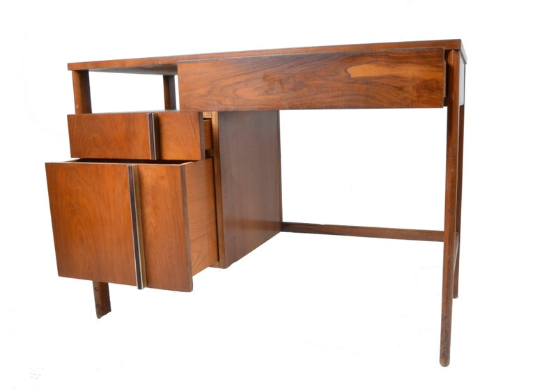 Mid Century desk by Dale Ford for John Widdicomb.