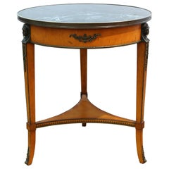 John Widdicomb Empire Style Gueridon Side Table or Center Table