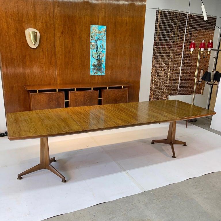 Mid-Century Modern John Widdicomb Extension Dining Table by J. Stuart Clingman