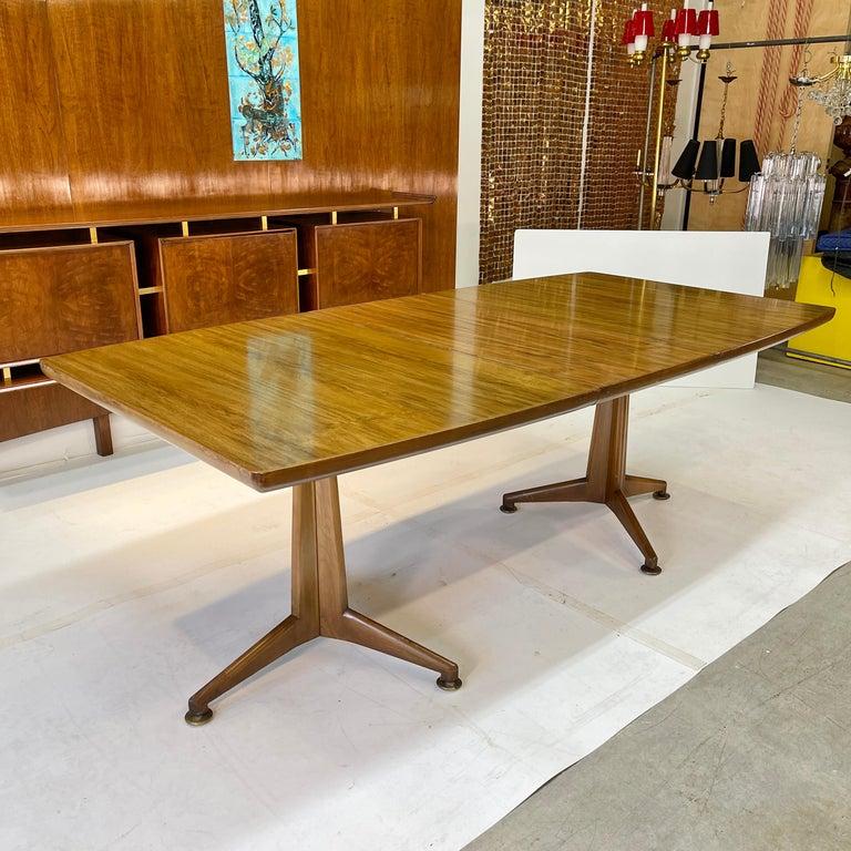 Walnut John Widdicomb Extension Dining Table by J. Stuart Clingman