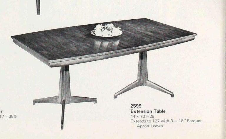 John Widdicomb Extension Dining Table by J. Stuart Clingman 2