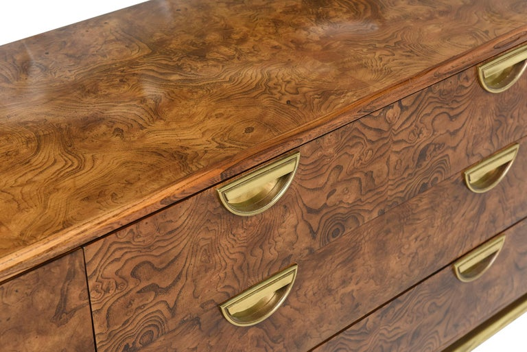 Modern John Widdicomb for Mastercraft Cabinet or Credenza with Drawers For Sale