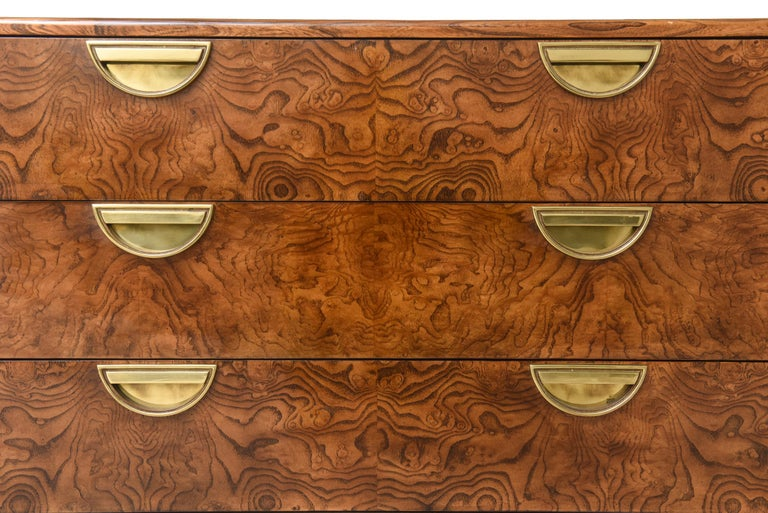 John Widdicomb for Mastercraft Cabinet or Credenza with Drawers In Good Condition For Sale In North Miami, FL