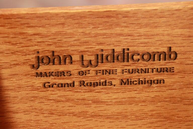 John Widdicomb French Regency Cherry and Burl Tambour Door Gentleman's Chest For Sale 4