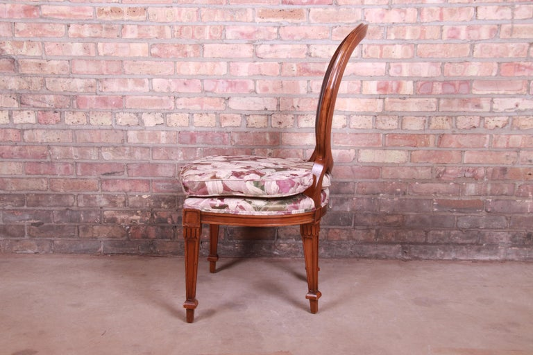 John Widdicomb French Regency Walnut and Cane Dining Chairs, Set of Six For Sale 5