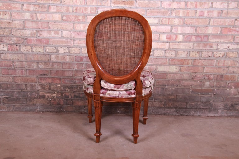 John Widdicomb French Regency Walnut and Cane Dining Chairs, Set of Six For Sale 6