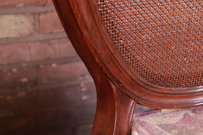 John Widdicomb French Regency Walnut and Cane Dining Chairs, Set of Six For Sale 9