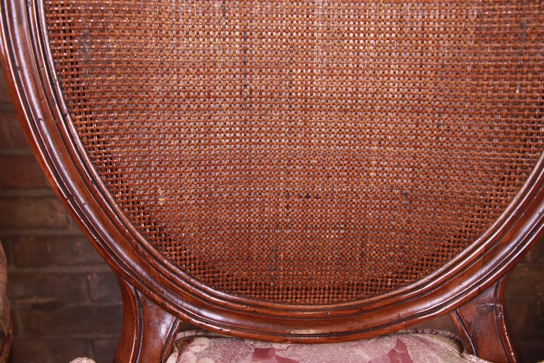 John Widdicomb French Regency Walnut and Cane Dining Chairs, Set of Six For Sale 2