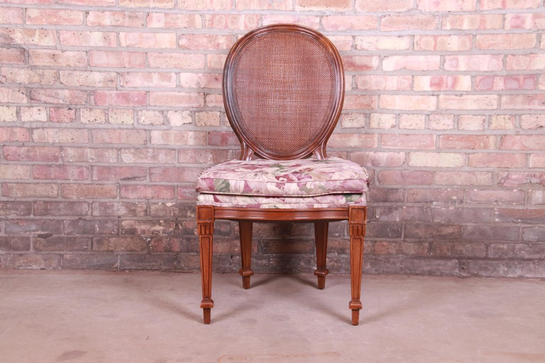 John Widdicomb French Regency Walnut and Cane Dining Chairs, Set of Six For Sale 3