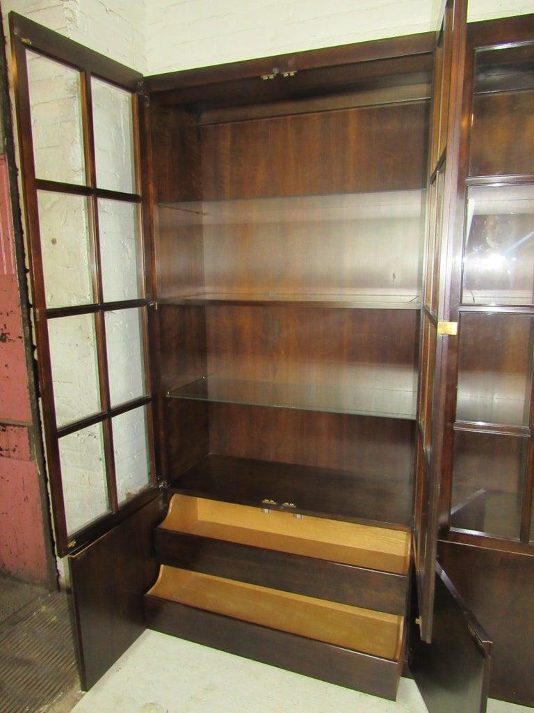 Mid-Century Modern John Widdicomb Glass Front Units For Sale