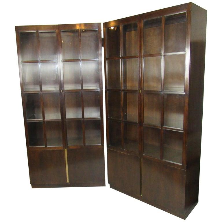 John Widdicomb Glass Front Units For Sale