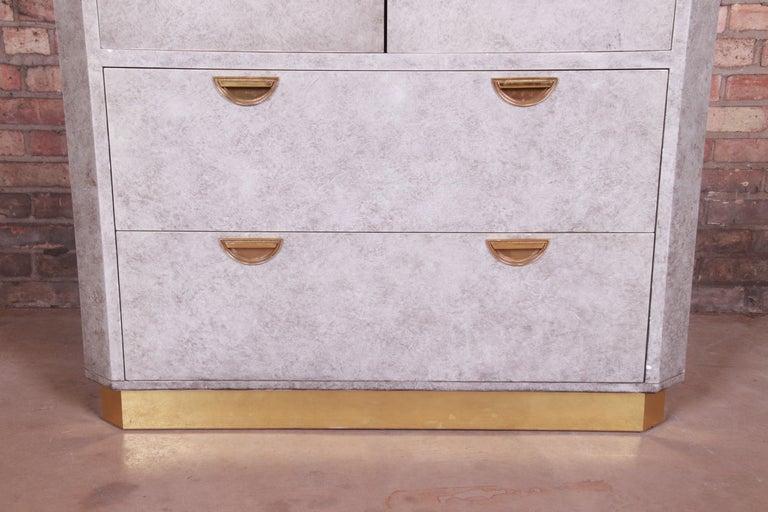 John Widdicomb Midcentury Hollywood Regency Armoire Dresser, circa 1970s For Sale 4