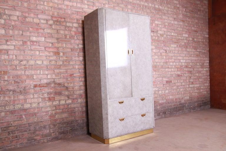 Late 20th Century John Widdicomb Midcentury Hollywood Regency Armoire Dresser, circa 1970s For Sale