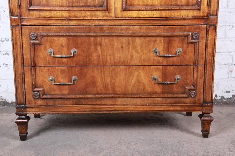John Widdicomb Mid-Century Modern Walnut Armoire Dresser, circa 1960s 4