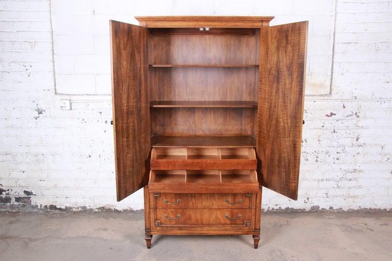 John Widdicomb Mid-Century Modern Walnut Armoire Dresser, circa 1960s 1