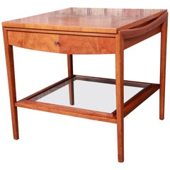 John Widdicomb Mid-Century Modern Walnut Nightstand or End Table