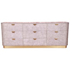 John Widdicomb Midcentury Hollywood Regency Triple Dresser or Credenza, 1970s