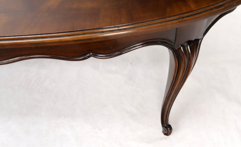 John Widdicomb Parquet Inlay Country French Dining Table with 3 Leaves For Sale 7