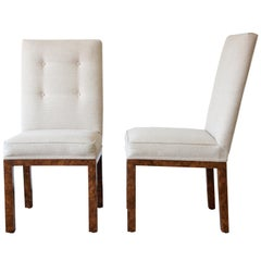 John Widdicomb Parsons Style Dining Chairs, Set of Eight