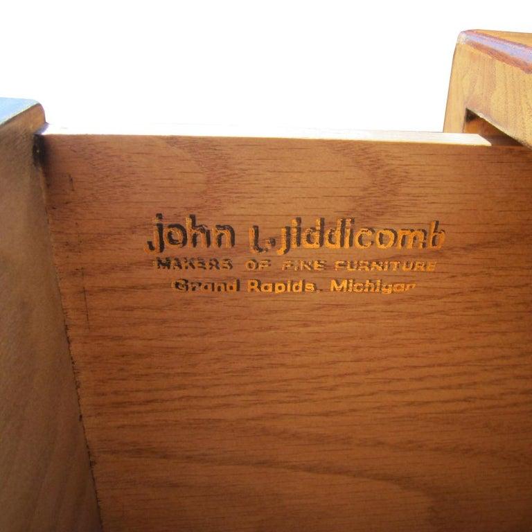 Mid-20th Century John Widdicomb Tall Campaign Style Dresser For Sale