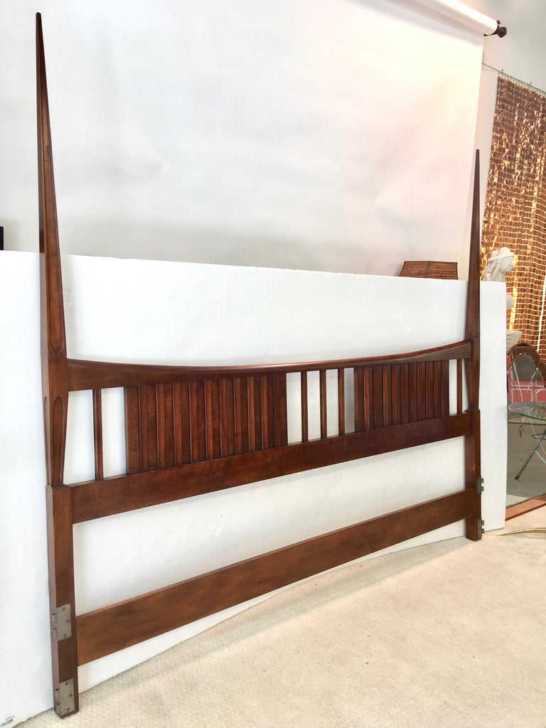 American John Widdicomb Tall Post King Bed Headboard For Sale
