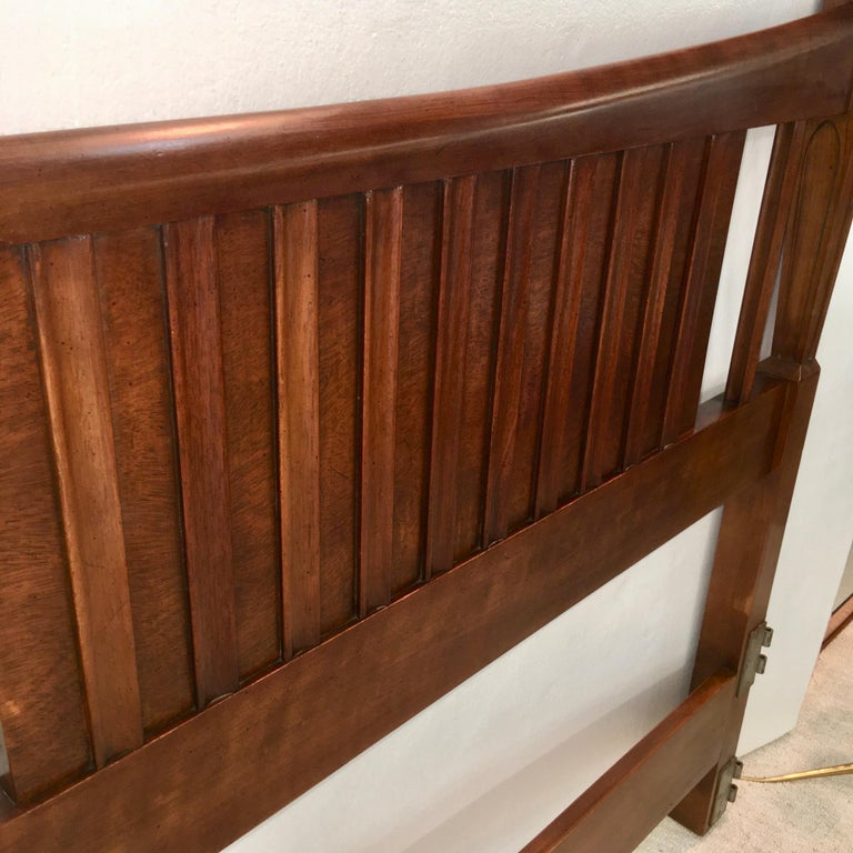 Walnut John Widdicomb Tall Post King Bed Headboard For Sale