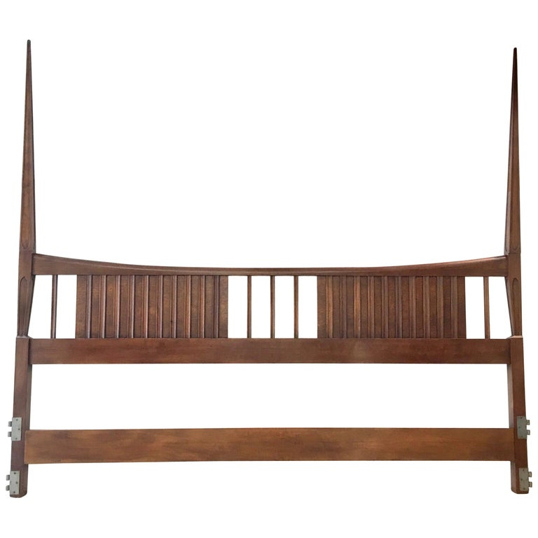 John Widdicomb Tall Post King Bed Headboard For Sale