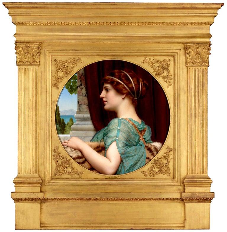 A Pompeian Lady - Painting by John William Godward