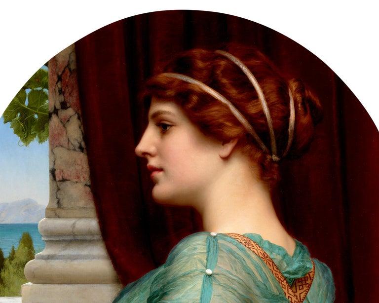 A Pompeian Lady - Academic Painting by John William Godward