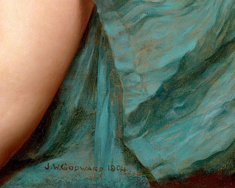 A Pompeian Lady - Brown Portrait Painting by John William Godward