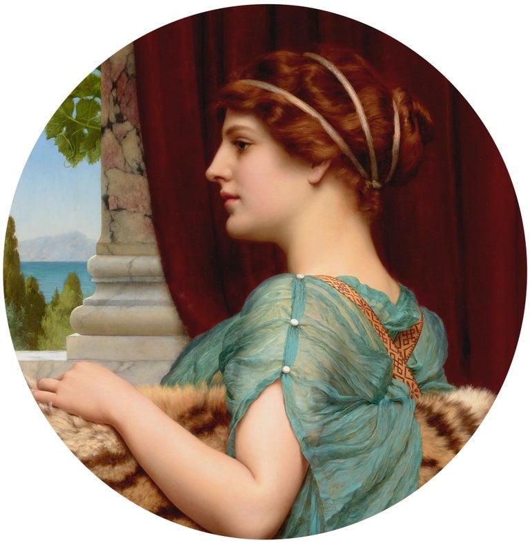 John William Godward Portrait Painting -  A Pompeian Lady