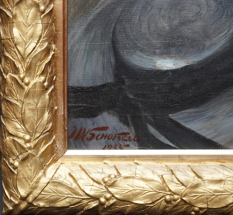 Portrait of Jonne - British art 1930 oil painting woman in landscape For Sale 4