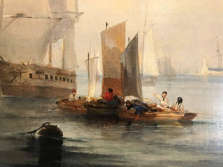 Enormous and beautifully lit 19th Century Marine  - Old Masters Painting by John Wilson Ewbank