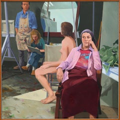 In the Studio, Large Painting by John Winslow