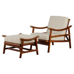 John Wisner for Ficks Reed Lounge Chair and Ottoman