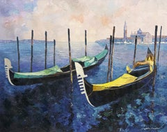 """""""Gondolas"""" Giclee Print on Canvas. Signed by the Artist."""