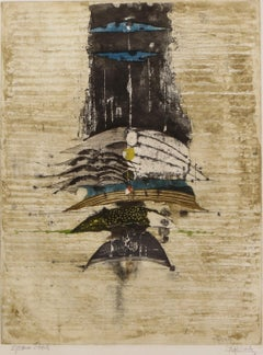 Abstract Composition - Etching and Aquatint - 1963