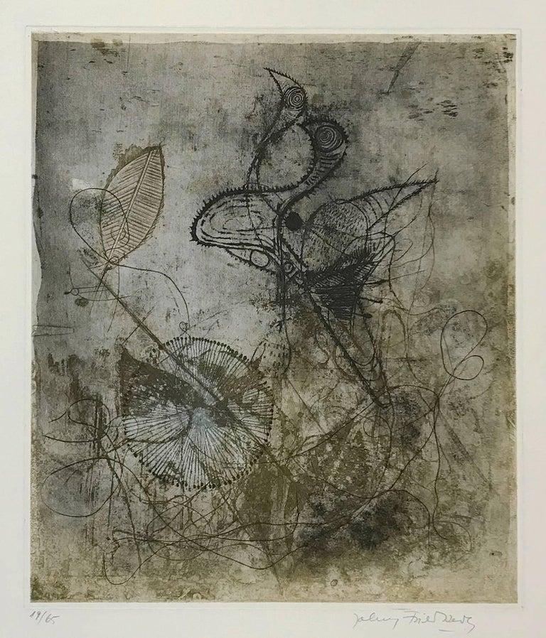 Johnny Friedlaender Abstract Print - FRE SOLEOL BLEU