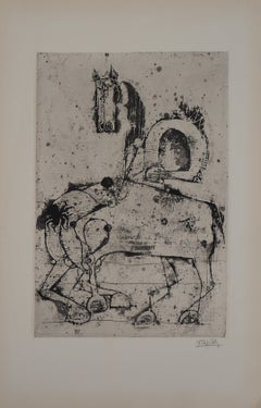 Horses  - Original Handsigned Etching, 1963