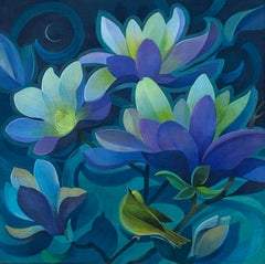 Midnight Magnolias, Original Painting