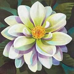 White Dahlia, Original Painting