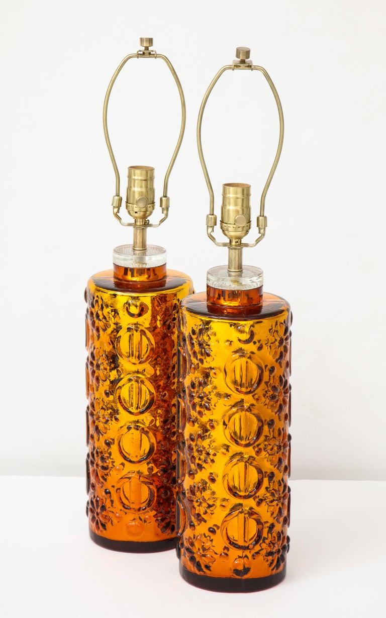 Johansfors Patterned Gold Mercury Glass Lamps