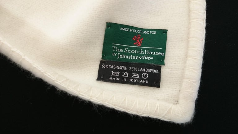 Gray Johnstons of Elgin Cashmere (65%) Blanket for The Scotch House For Sale