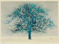Japanese Woodblock Tree Print