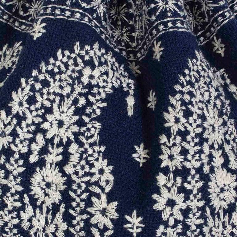 Black Joie Embroidered Bucket Bag Drawstring Closure Plaited Strap Detail For Sale