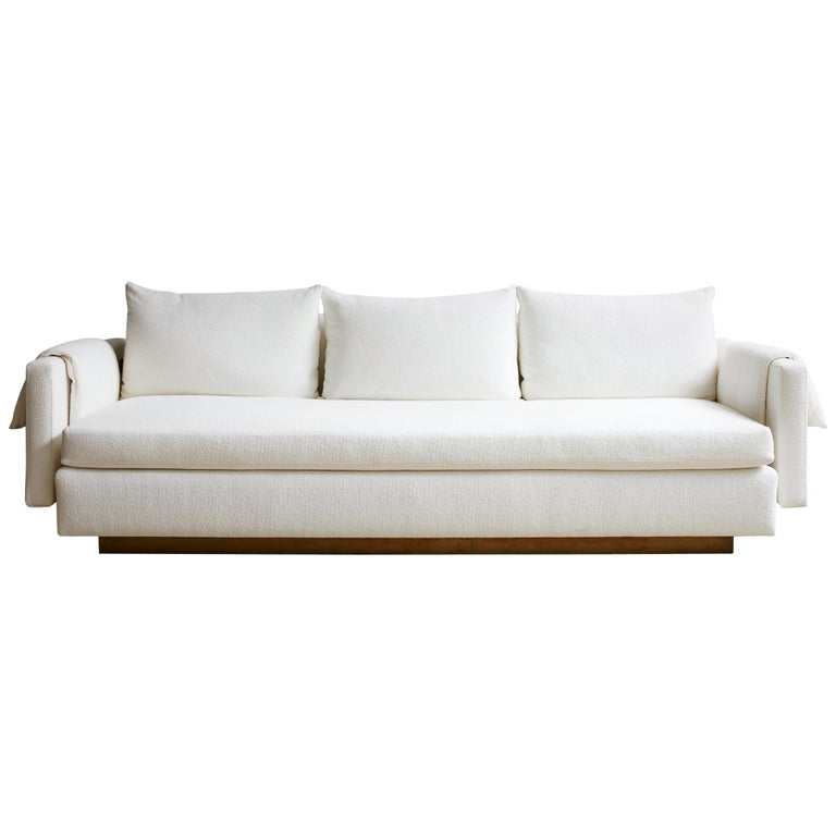 Superb Joinery Sofa By Billy Cotton In Brushed Brass And White Linen Machost Co Dining Chair Design Ideas Machostcouk