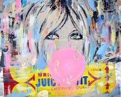 Juicy Fruit, pop art, vintage collage by Jojo Anavim