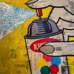 Krylon, pop art, vintage collage by Jojo Anavim